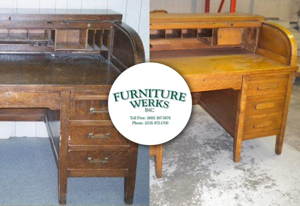 Roll Top Desk Before and After